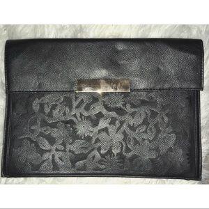 Asos Floral Laser Cut Faux Leather Clutch Bag